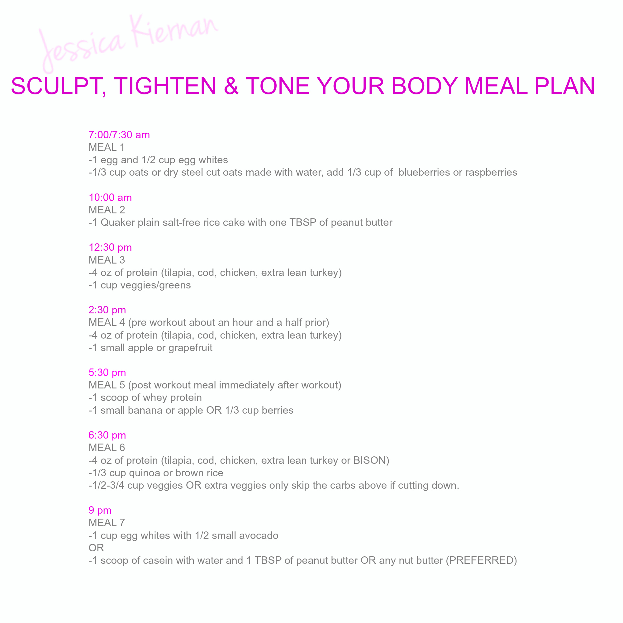 This Meal Plan And If You Need Additional Help Can Always Contact Me For Specific Macro Counting Your Goals Or Order A From Under Custom